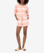 Melody Tie Dye Drawcord Knit Short (Peach) Main Image