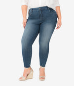 Donna High Rise Fab Ab Ankle Skinny, Plus (Allowed Wash) Main Image