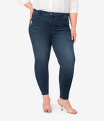 Donna High Rise Fab Ab Ankle Skinny, Plus (Seed Wash) Main Image