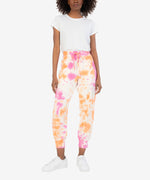 Layla Tie Dye Drawcord Jogger (Pink/Orange) Main Image