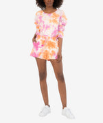 Melody Tie Dye Drawcord Knit Short Main Image