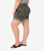 Catherine Boyfriend Short, Plus (Animal Print) Hover Image