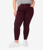 Donna High Rise Ankle Skinny, Plus (Deep Wine) Main Image