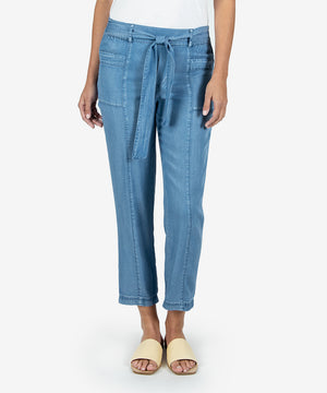 Adria Belted Patch Pocket Pant- Kut From the Kloth