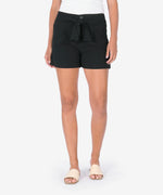 Linda Belted Wide Leg Short (Black) Main Image