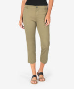 Harmony Crop Trouser (Light Olive) Main Image