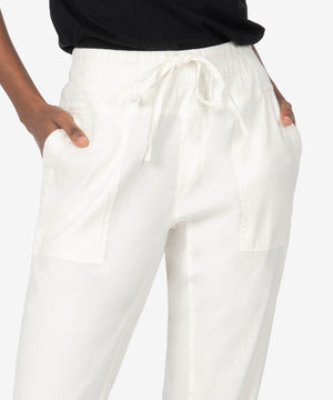 Drawcord Pant (White)