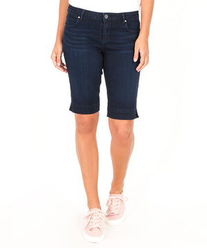 Natalie Bermuda, Exclusive (Calculated Wash)-Denim-0-Calculated W/Euro Base Wash-Kut from the Kloth
