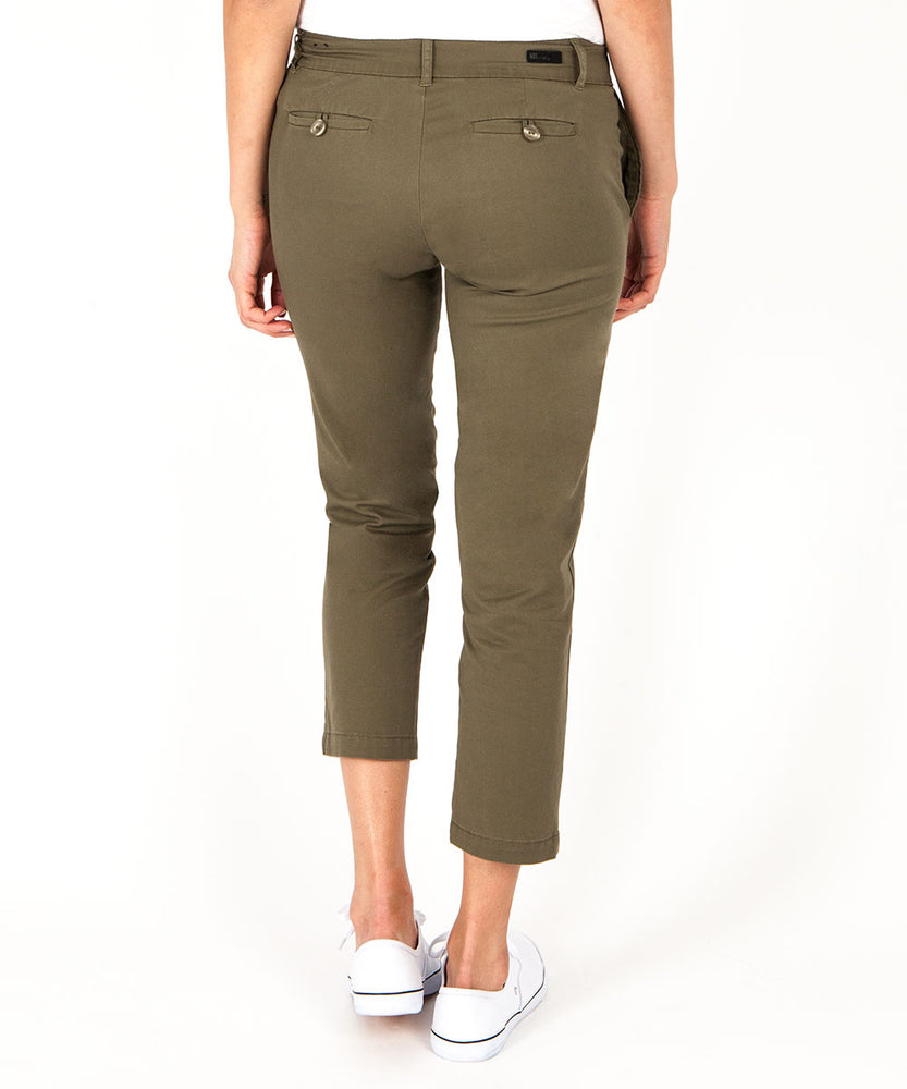 Relaxed Crop Trouser (Olive)