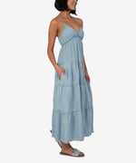 Thea  Dress (Light Wash) Hover Image