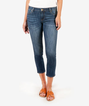 Maggie Skinny Crop Boyfriend (Remedy Wash)-New-00-Remedy W/Dk Stone Base Wash-Kut from the Kloth