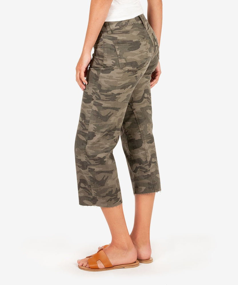 Charlotte Crop Culotte (Olive)-Kut from the Kloth