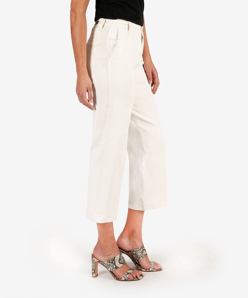 Charlotte Crop Culotte (Ecru Wash)-Kut from the Kloth