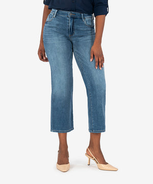 Charlotte High Rise Culotte (Azalea Wash)-New-Kut from the Kloth