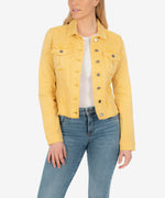 Kara Crop Jacket (Mustard) Main Image