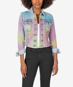Kara Crop Jacket (Tie-Dye) Main Image