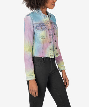 Kara Crop Jacket (Tie-Dye)-New]-Kut from the Kloth