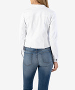 Kara Crop Denim Jacket, Exclusive(White)-Kut from the Kloth