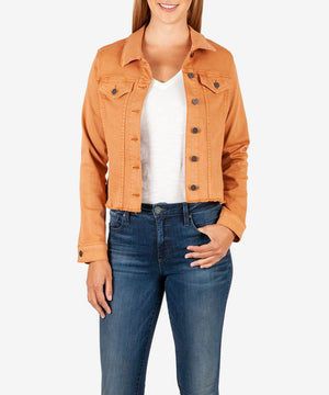 Kara Crop Jacket (Terracotta)-New-XX SMALL-Terracotta-Kut from the Kloth