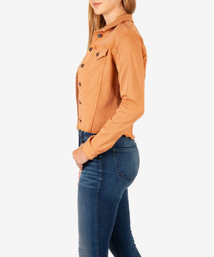 Kara Crop Jacket (Terracotta)-New-Kut from the Kloth