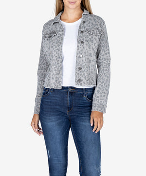 Kara Crop Denim Jacket-New-Kut from the Kloth