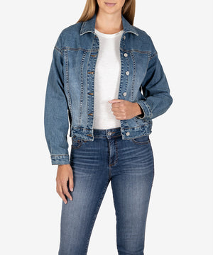 Eva Denim Jacket (Through Wash)-New-Kut from the Kloth