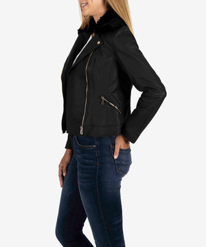 Layla Vegan Leather Moto Jacket--Kut from the Kloth
