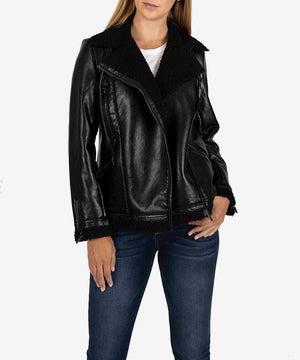 Orla Vegan Leather Moto Jacket-CLOTHING-Kut from the Kloth