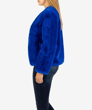 Eleana Faux Fur Jacket, Exclusive (Cobalt)-Shop-Kut from the Kloth