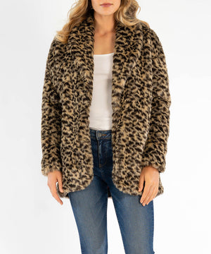 Jina Leopard Faux Fur Coat, Exclusives-New-Kut from the Kloth
