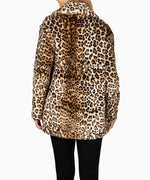 Jina Leopard Faux Fur Coat, Exclusive Hover Image