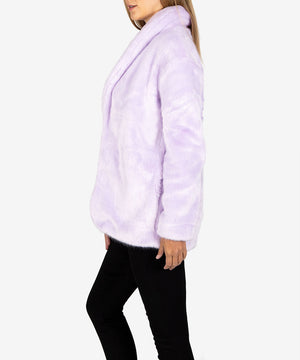 Jina Faux Fur Coat, Exclusive (Lavender)-New-Kut from the Kloth