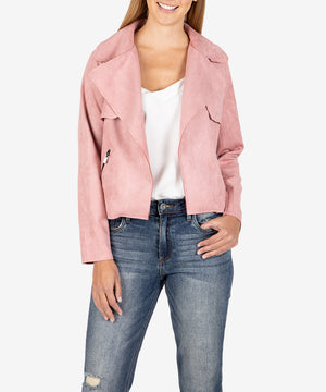 Jacee Faux Suede Moto Jacket-New-Kut from the Kloth