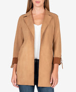 Faye Faux Suede Coat (Butterscotch) Main Image