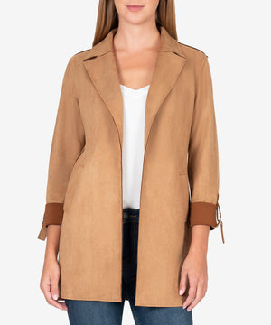 Faye Faux Sude Coat (Butterscotch)
