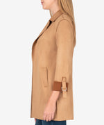 Faye Faux Suede Coat (Butterscotch) Hover Image