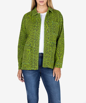 Ilysa Twill Jacket, Exclusive (Lime)-New-Kut from the Kloth