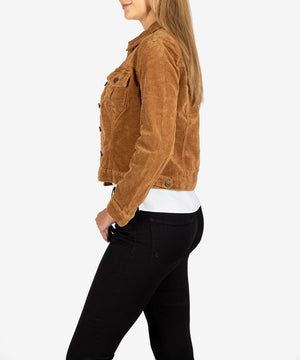 Nanci Corduroy Trucker Jacket (Camel)-New-Kut from the Kloth