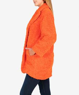 Addyson Faux Fur Coat, Exclusive (Orange)-New-Kut from the Kloth