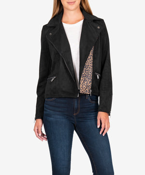 Jayden Faux Suede Moto Jacket-New-Kut from the Kloth