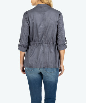 Dianne Fax Suede Drape Jacket-New-Kut from the Kloth