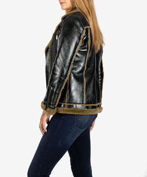 Alex Faux Leather Moto Jacket-New-Kut from the Kloth