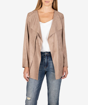 Bernette Faux Suede Drape Jacket-New-Kut from the Kloth