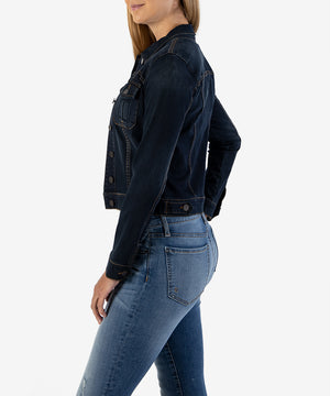Amelia Denim Jacket (Enlighten Wash)-TRY 5 FOR FREE-Kut from the Kloth