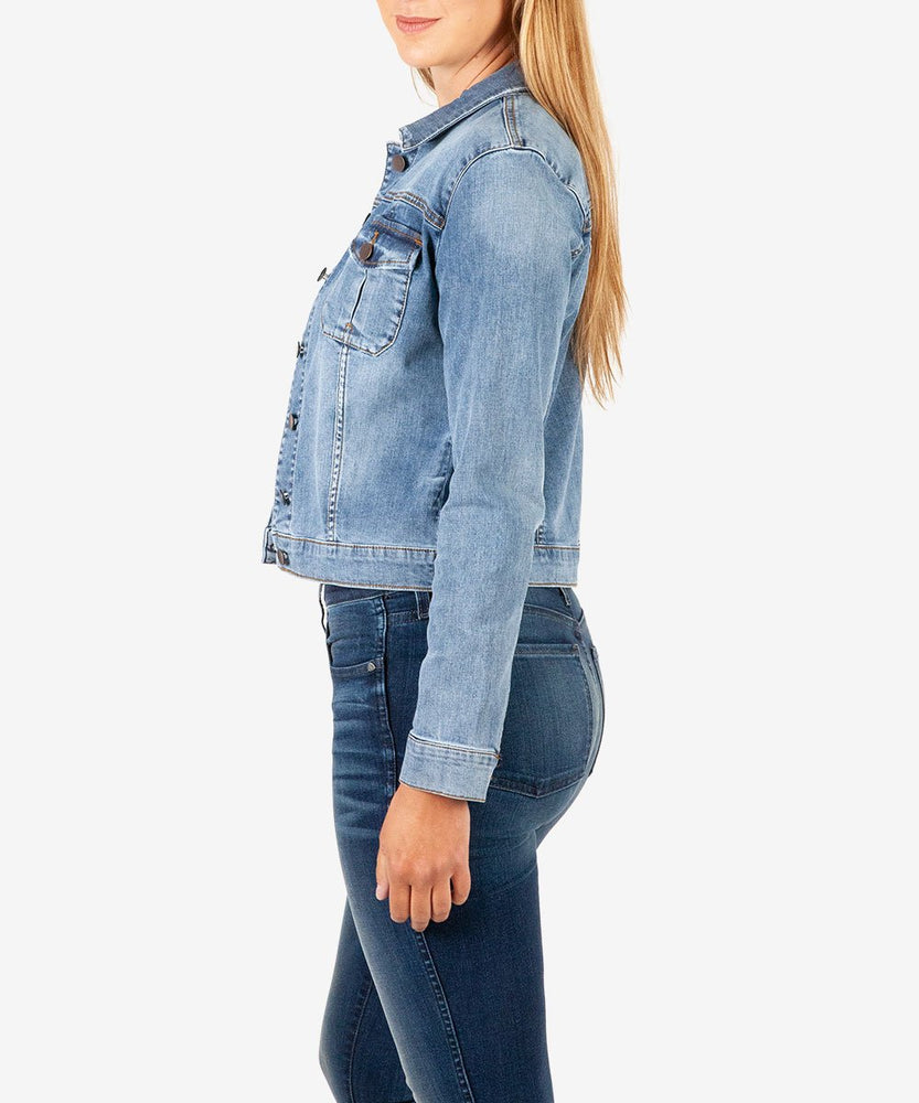 Amelia Denim Jacket (Easygoing Wash)-Kut from the Kloth