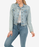 Amelia Denim Jacket (Option Wash) Main Image
