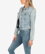 Amelia Denim Jacket (Option Wash) Hover Image