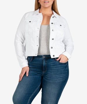 Helena Jacket, Plus (Optic White)-New-Kut from the Kloth