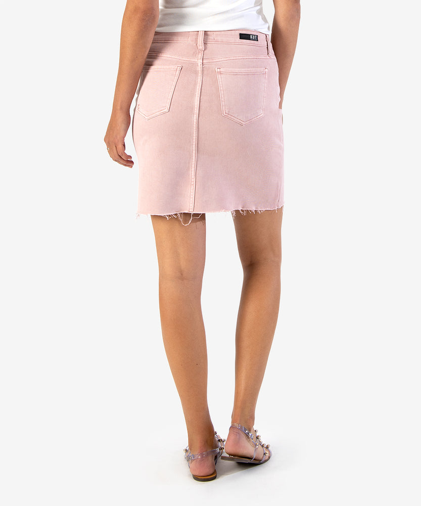 Margaret Denim Skirt (Dusty Rose)