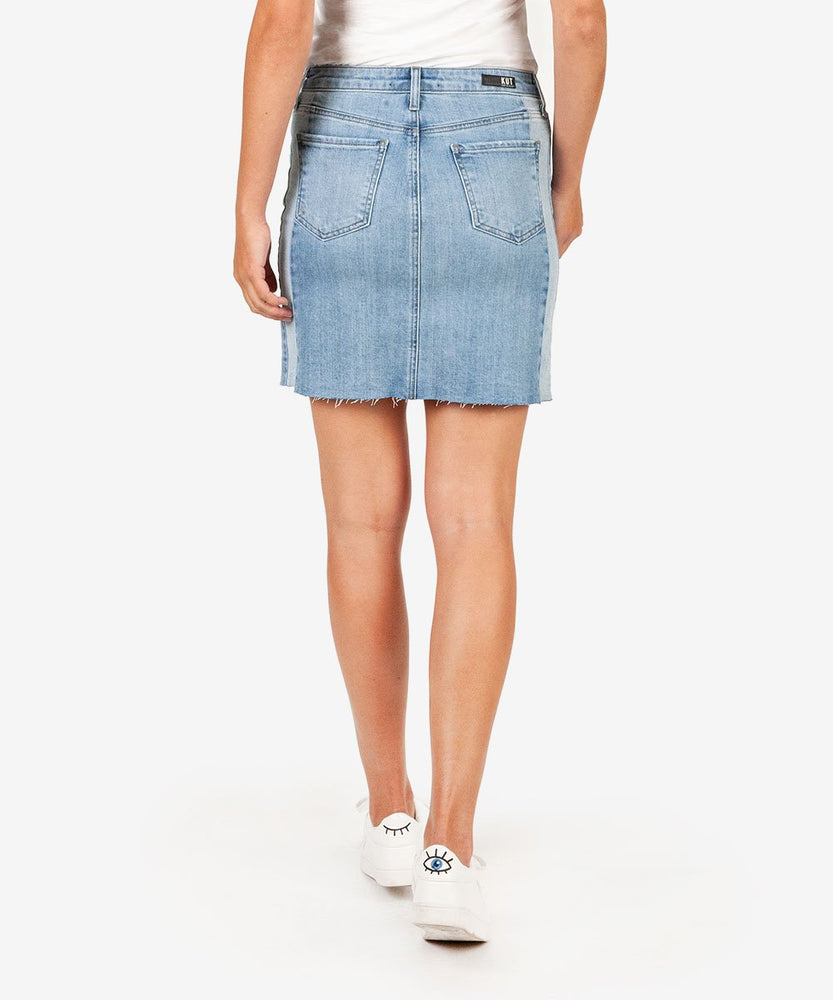 Joey A Line Denim Skirt, Exclusive (Rested Wash)-Kut from the Kloth